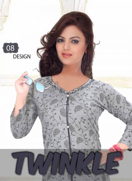 Trendy Twinkle Latest Fancy Designer Regular Casual Wear Straight Cut Designer Cotton Printed Kurtis Collection