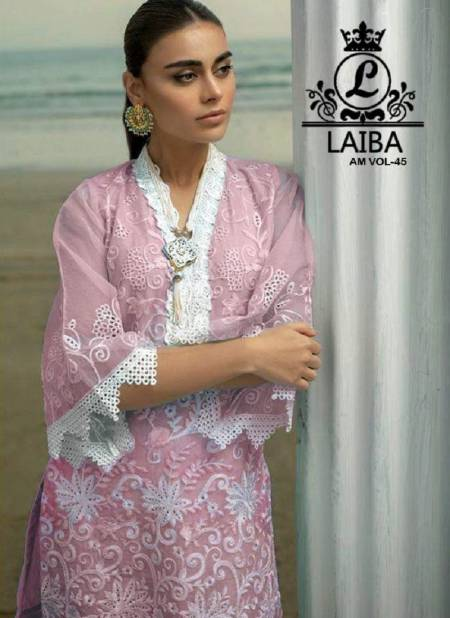 Laiba Am 45 Pure Georgette Stylish Kurti With Bottom Pakistani Collection