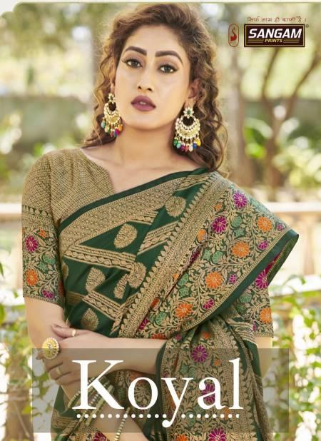 Sangam Koyal Designer Wedding Banarasi Silk Saree Collection