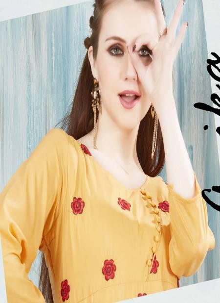 Anika Heavy Premium Muslin Embroidered Designer Kurti Collection at Wholesale Price