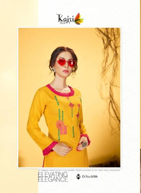 Kajri Noor 6 Hevay Rayon Designer Party Wear Kurti With Bottom Collection