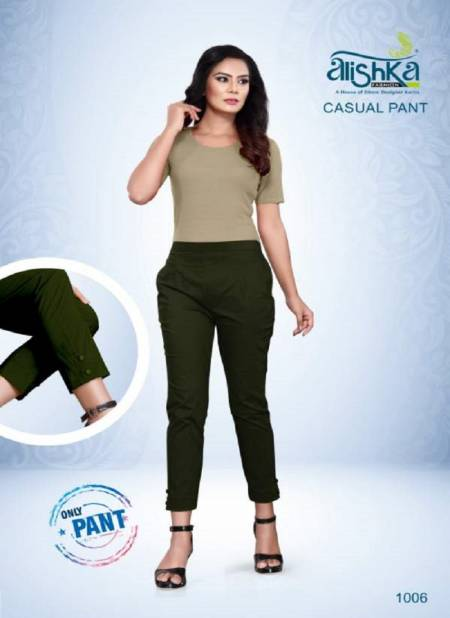 Alishka Casual Pant Spandex Stretchable Designer Pant Collection