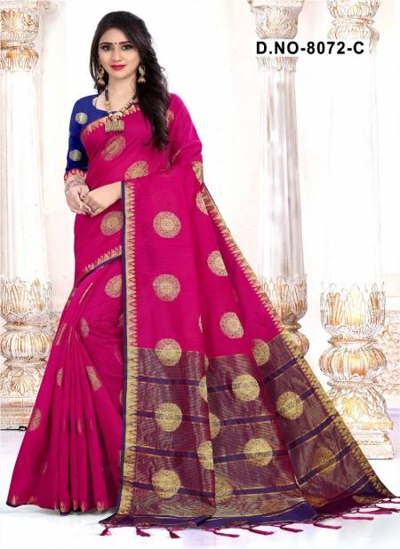 Haytee Aavran 8072 Handloom Designer Cotton Silk Saree Collection