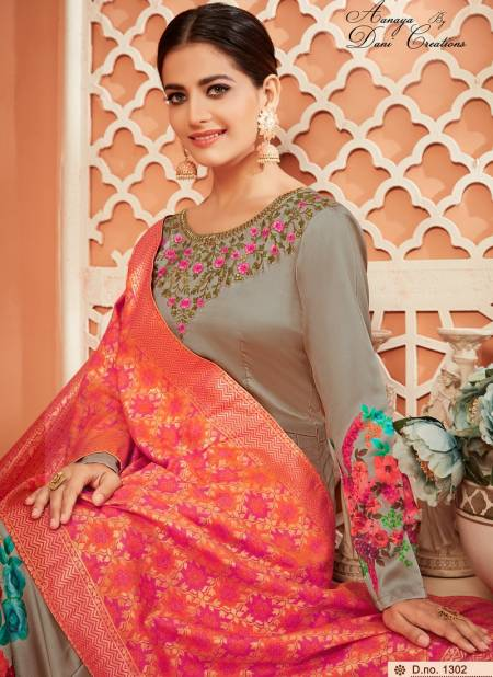 Aanaya Vol 113 Monga Satin Silk with Jacquard Dupatta Heavy Designer Partywear Salwar Suit Collections