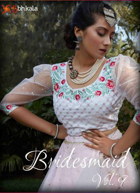 BRIDESMAID VOL-9 Latest Fancy Party And Wedding Wear Designer Net With Metalic Foil Printed Work Heavy Western Lehenga Choli Collection