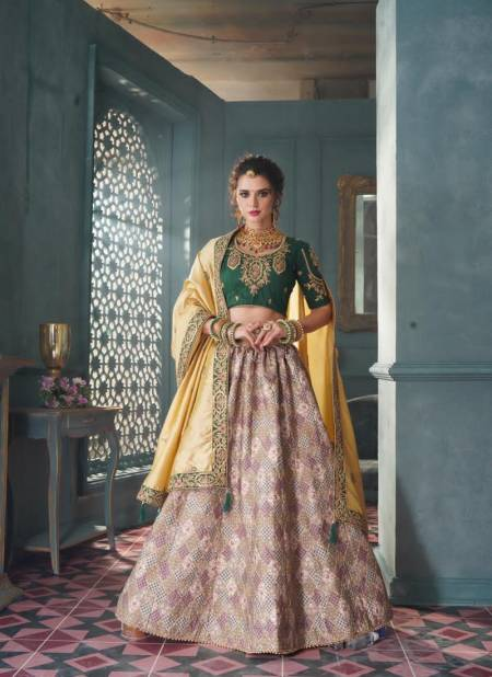 Designer Semistitched Pure Silk Bridal and Wedding Embroidery and Diamond Work Heavy Lehenga Choli Collectons