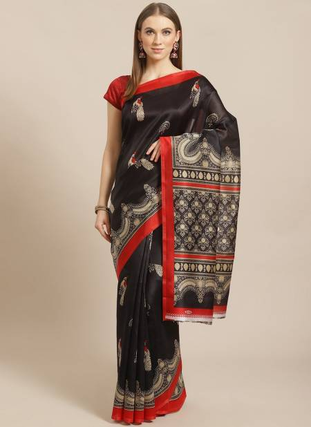Daily Use Bhagalpuri Simple Cheap Rate Designer Saree Collections