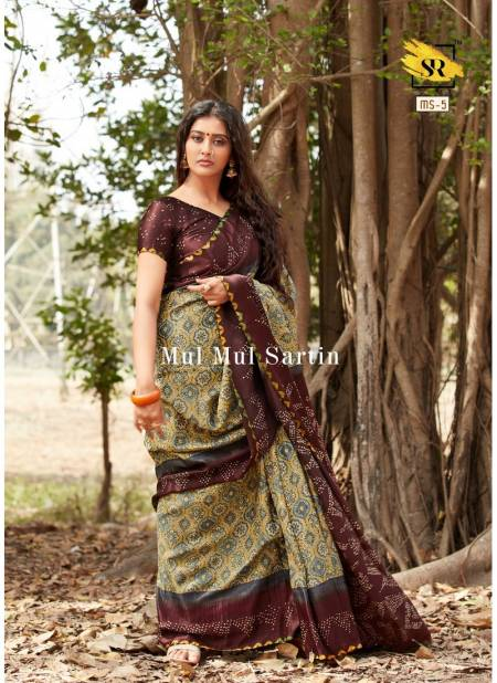 RajYog Mul Mul Sartin Exclusive Attractive Designer Printed Soft Mal Mal Sartin Silk Casual Wear Saree Collection