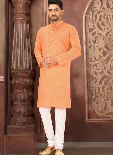 Shantanu Latest Casual Wear Machine Work Plain Cotton Kurta With Wooden Buttons And  Payjama Collection