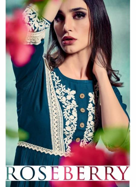 FG Rosebery Vol 1 Latest Designer Pure Rayon with Lucknowi Embroidery Work New Western Kurtis Collection