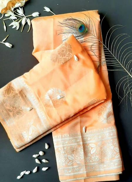 Redolence Krishna Latest Festive Wear Kanjivaram Silver Zari With Butti Saree Collection