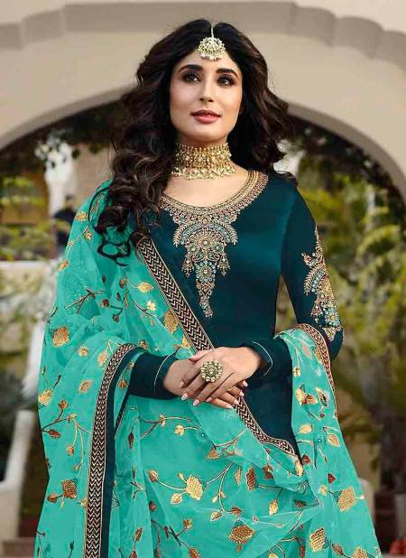 Fiona Fancy Designer Latest Stylish Festive Wear Satin Georgette With Embroidery Work Latest Salwar Suit Collection