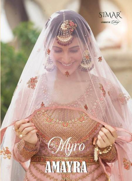 GLOSSY MYRO AMYRA Fancy Designer Latest Heavy Wedding Wear Heavy Net With Embroidery And Swarvoski Work Salwar Suit Collection