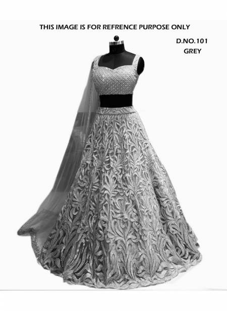 VARNI BRIDAL COUTURE EXCLUSIVE DEDSIGNER HEAVY NET EMBROIDERY WORKED LEHNGA COLLECTION