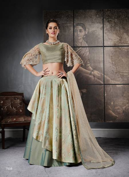 MOHMAYAA 7500 Glitterati Latest Fancy Festive Party Wear Jacquard Silk Heavy Designer Exclusive Western Lehenga Choli Collection