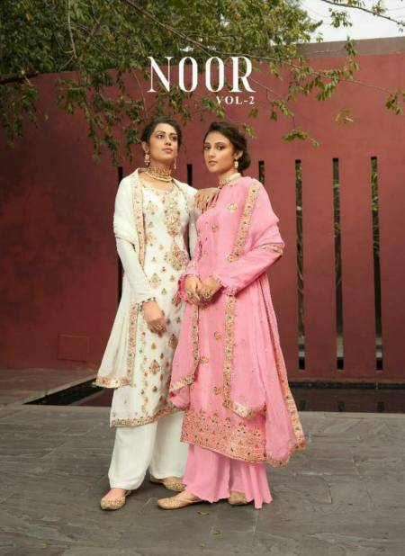 KARMA NOOR VOL-02 Fancy Latest Designer Festive Wear Silk Minakari Jacquard With Heavy Worked Salwar Suit Collection
