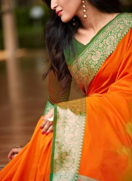 Kasturi silk Soft Silk With Rich Pallu Designer Party Wear And Festival Silk Saree Collections