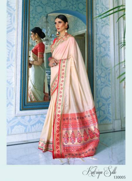 RajTex Katriya Silk Pure Silk Weaving Work Designer and Party Wear Saree Collections