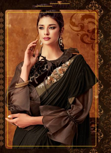 MOHMANTHAN 5200 B FEDORA Latest Designer Fancy Party Wear Lycra Sequins Embroidery Handwork Heavy Saree Collection