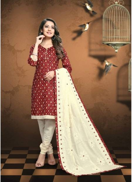 Viva Fashion Patola Printes Latest Traditional Festival Wear Cotton Printed Dress Material With Cotton Dupatta Collection