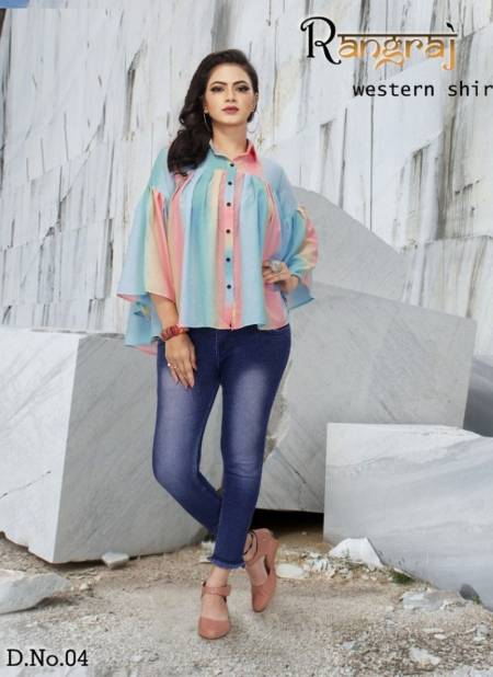 RANGRAJ RAINBOW SHIRT Latest Fancy Designer Party Wear Cotton Printed Heavy Shirt Collection