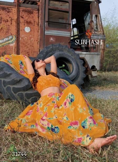 Subhash Saree Gardenia vol 8 Designer Floral Print All Over Work Georgette Daily Wear and office Wear Saree Collections
