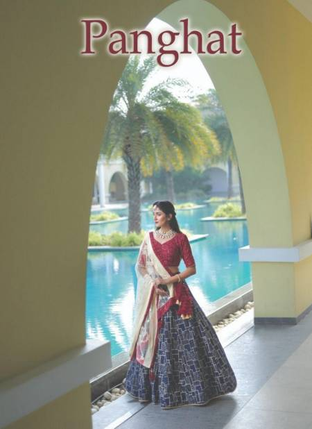 PANGHAT Latest fancy Designer Heavy Wedding Wear Pure Bembring Georgette With Sequence And Lucknowi Work Lahenga Choli Collection
