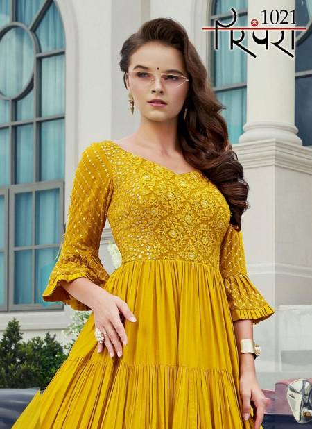 PARMPARA VOL 05 Latest fancy wedding Wear Heavy Soft Viscoss And Maslin silk Embroidery and Sequnce Work Designer Gown Collection