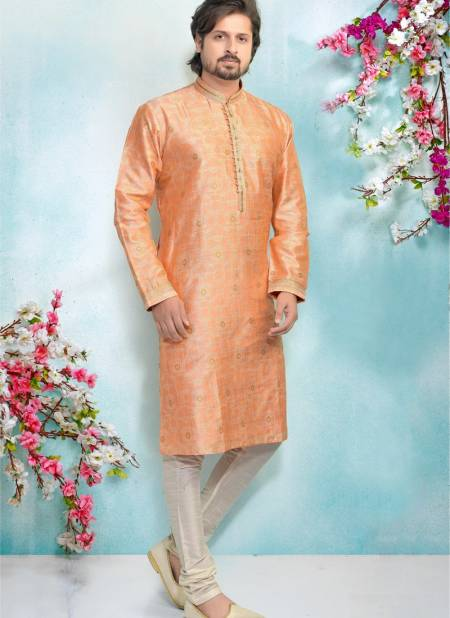 New Latest Designer Party And Function Wear Traditional Jaquard Silk Brocade Kurta Pajama Redymade Collection