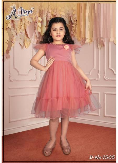 Arya Tanvi Kids Wear Designer Party Wear Cotton Velvet And Net Frock Collection