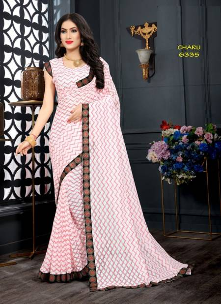 Chaaru Raschal Jecquard Woven Zari Work With Lace Border Casual Wear Saree Collection
