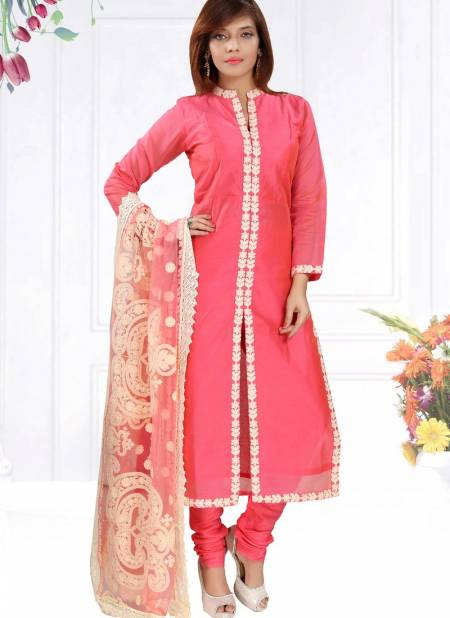 N F Churidar 04 Latest New Exclusive Fancy Designer Casual Wear Chanderi Silk Salwar Suit Collection