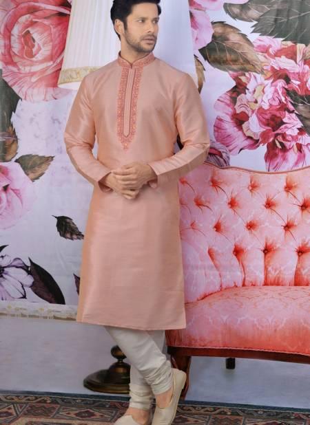 New Designer Embroidery Work Art Banarasi Silk Eid Special Kurta Pajama Collections