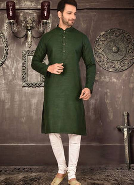 Shantanu Latest Casual Wear Plain Cotton Kurta With Fancy Button And Pajama Collection