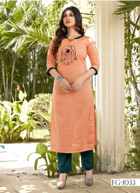 FG Krisha Vol-11 Launch Latest Pure Cotton With Embroidery Hand Work Ready Made Top and Pant