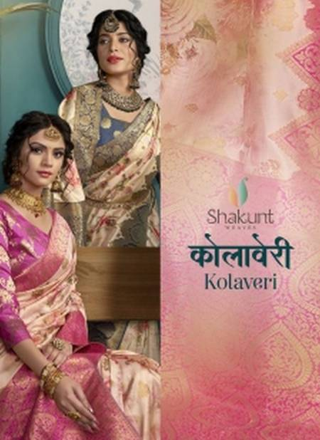 REVIES RATE SHAKUNT KOLAVERI Latest fancy Designer Heavy Festive Wear Silk Weaving With Digital Print Saree Collection