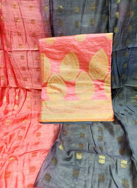 Rahul NX Kanchipuram Banarasi Top with Cottan Bottom and Banarasi Dupatta Designer Salwar Suit Collections