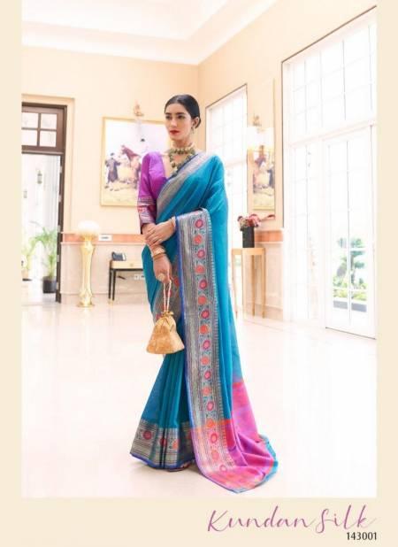 RajTex Kundan Silk Handloom Weaving Silk Wedding Wear Designer and PartyWear Saree Collections