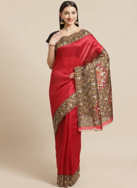 Daily Use Designer Bhagalpuri Elegant Good Looking Saree Collections