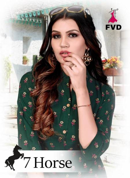 Regular Wear And Office wear Designer Foil Print Reyon Kurtis with Plazzo Collections