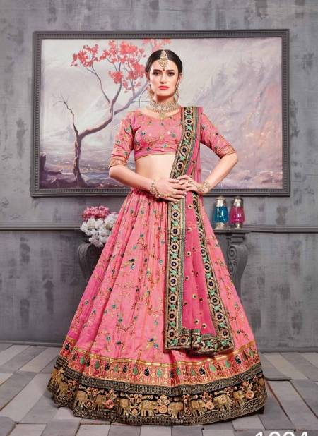 KHUSHBOO Latest Fancy Heavy Designer Wedding Wear Silk Thread Sequence Embroidery Work Lehenga Choli Collection