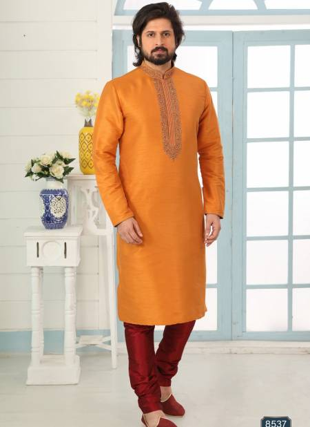 Fancy New Party And Function Wear Traditional Art Banarasi Silk Kurta Churidar Pajama Redymade Collection