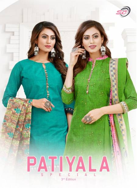 Sc Patiyala Special Vol 3 Casual Wear Pure Printed Cotton Dress Material Collection