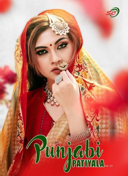 SC Punjabi Patiyala Vol 1 Latest Printed Cotton Casual Wear Dress Material Collection