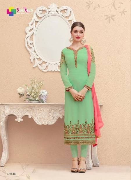 Sanskriti Saarthi Fashion Mahira Georgette Embroidery Work Desgner Chudidar Salwar Suit Collections
