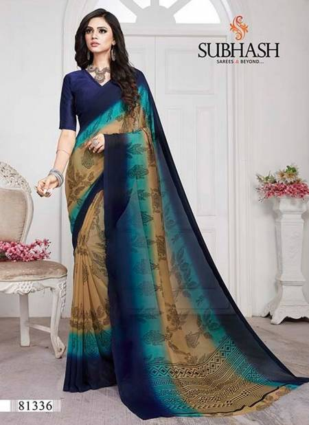 Subhash Saree New Year Designer Printed Georgette Elegant Daily Wear Simple Low Range Saree Collections
