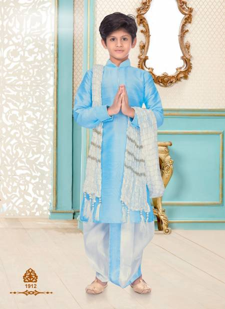 New Party Wear Designer Fancy Eid Festival Linen Cotton and Dupion Silk Kids Kurta Payjama Collection
