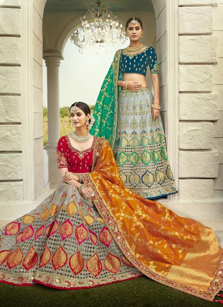 TATHASTU Latest Heavy Designer Wedding Wear Fancy Look and Beautifull Silk Embroidered Bridal Lehenga Choli Collection