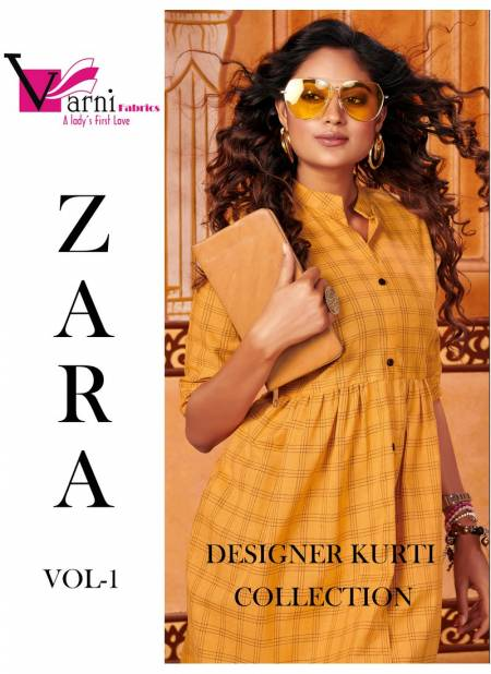VARNI ZARA VOL 1 LATEST EXCLUSIVE DESIGNER COTTON CHEX CASUAL WEAR KURTI COLLECTION