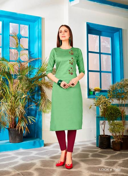 Velentino Latest Jam Silk Party Wear Casual Wear Hand Work Stylish Kurtis Collections